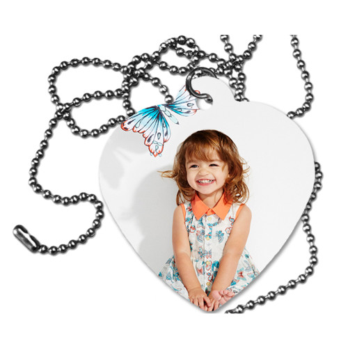 Custom Personalized Heart Tag /Dog Tag /Printed  2 Sides/Add a Picture