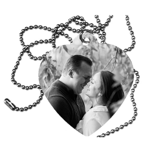 Custom Personalized People Heart Tag /Dog Tag /Printed  2 Sides/Add a Picture (SHIPS FREE)