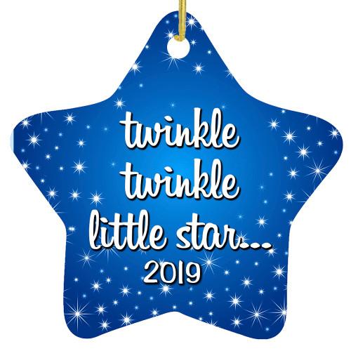 Custom Star Ornament - Twinkle, Twinkle Little Star
