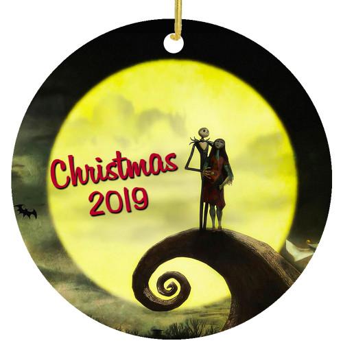 Jack & Sally Nightmare Christmas Holiday Ornament