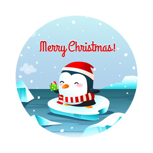Merry Christmas Holiday Penguin Ornament