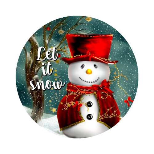 Let It Snow /Snowman Ornament - Custom & Personalized