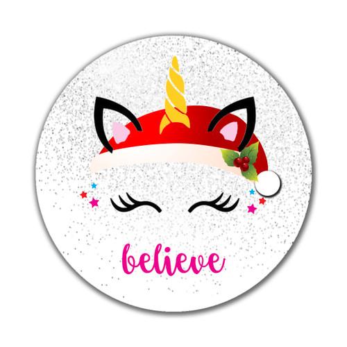 Unicorn / Believe Ornament- Custom & Personalized