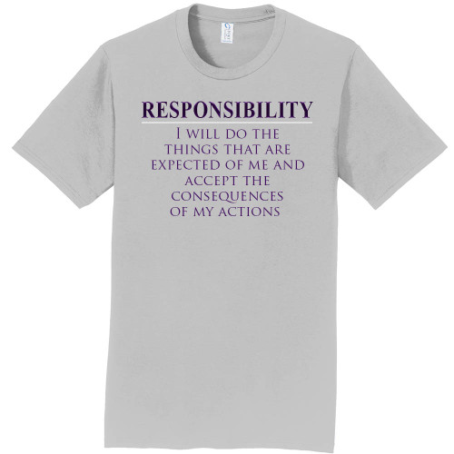 "RESPONSIBILITY - Core Value Tee by ""The Good Kid"""