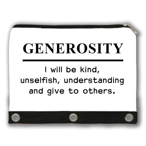 GENEROSITY - Core Value Pencil Case