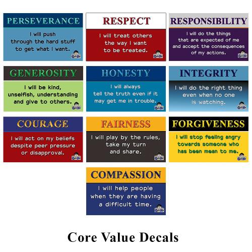 Core Value Decals