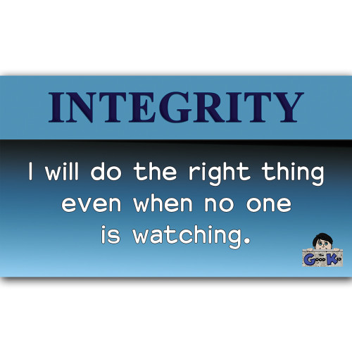 Integrity - Core Value Poster