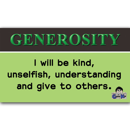 Generosity- Core Value Poster