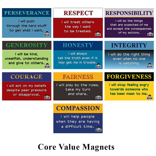 Core Value Magnets (Assorted Set of 10)