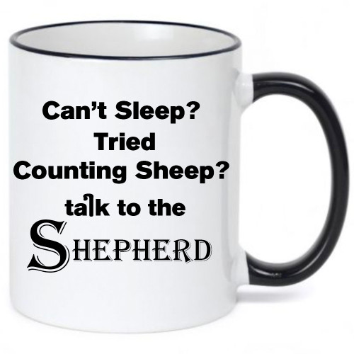 Can't Sleep? Tried Counting Sheep? Talk to the Shepherd / Religious / Inspirational  Mug