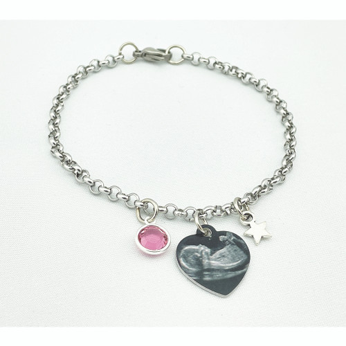 Custom Personalized Photo Charm Bracelets