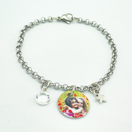 Custom Personalized Photo Charm Bracelets add Your Picture