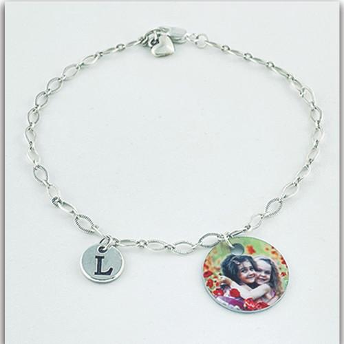 Custom Personalized Sterling Silver  Bracelet w/Custom Charm