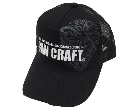Gan Craft CRACK FACE DAMAGE CAP #01 Black/Black NEW