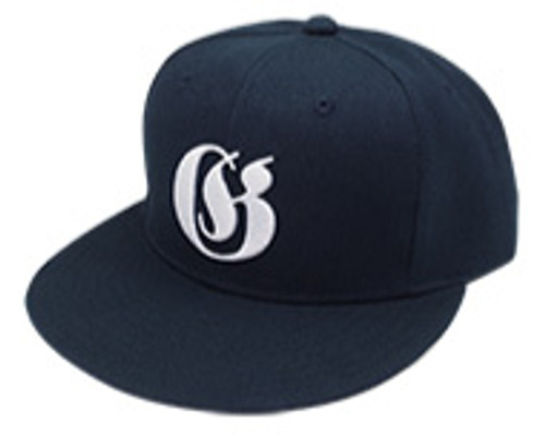 Gan Craft OLD ENGLISH SNAP BACK CAP #03 Navy/White NEW