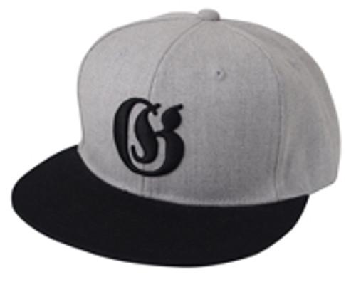Gan Craft OLD ENGLISH SNAP BACK CAP #05 Gray/Black NEW