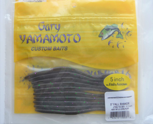 Gary Yamamoto FALL SHAKER 5 (10pcs) #301 Green Pumpkin/Green Purple Flake NEW