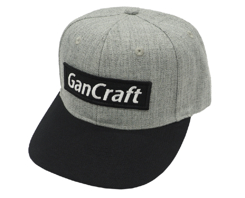 Gan Craft BOX LOGO CAP #04 Gray/Black Logo NEW