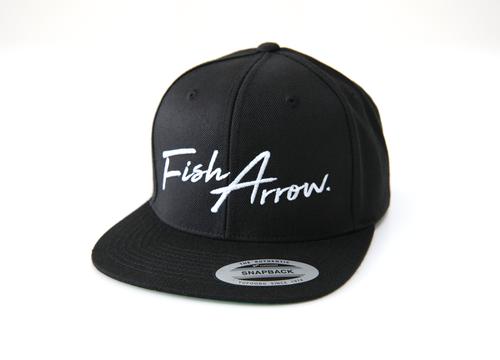 Fish Arrow LOGO FLAT CAP # Black NEW
