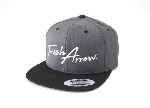 Fish Arrow LOGO FLAT CAP # Dark Heather Gray NEW