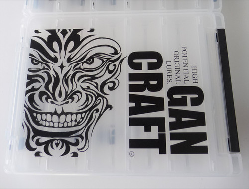 Gan Craft FACE LOGO REVERSIBLE BOX M size # Clear NEW