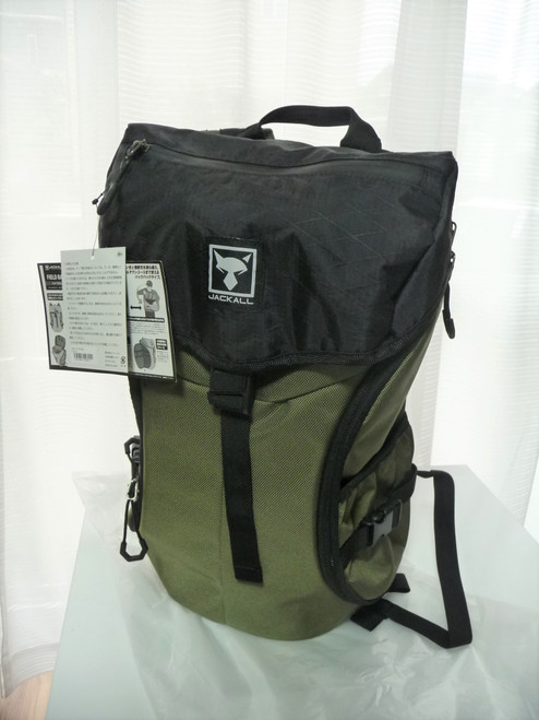 Jackall FIELD BAG Type Trail Back Pack # Bush Green NEW
