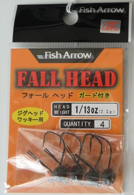 Fish Arrow FALL HEAD Weedless Jig Head  1/13 oz NEW
