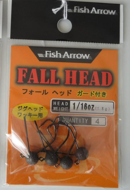 Fish Arrow FALL HEAD Weedless Jig Head  1/16 oz NEW