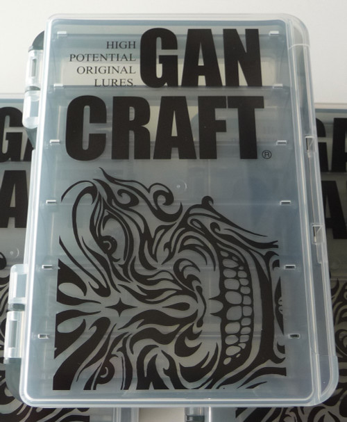 Gan Craft FACE LOGO REVERSIBLE BOX S size # Clear/Smoke NEW