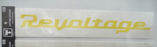 Jackall Revoltage Cutting Sticker L Size # Yellow NEW