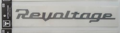 Jackall Revoltage Cutting Sticker L Size # Gray NEW