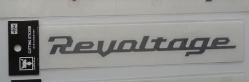 Jackall Revoltage Cutting Sticker M Size # Gray NEW