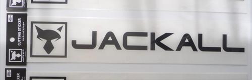 Jackall Cutting Sticker Rectangle L Size # Black NEW