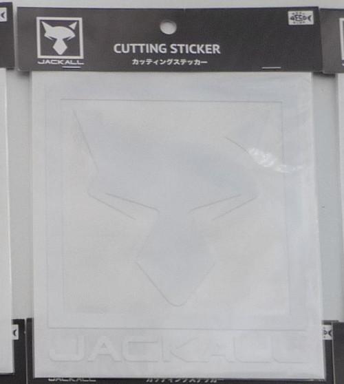 Jackall Cutting Sticker Square L Size # White NEW