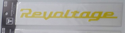 Jackall Revoltage Cutting Sticker M Size # Yellow NEW