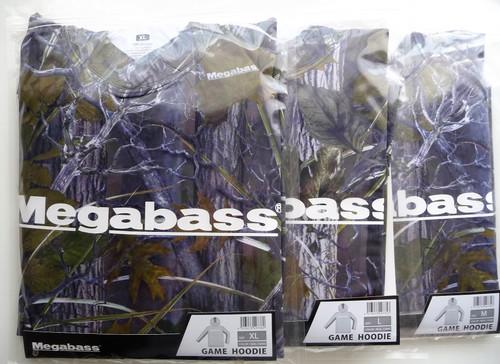 "Megabass GAME HOODIE # Real Camo NEW (""鬼手仏心"" print)"