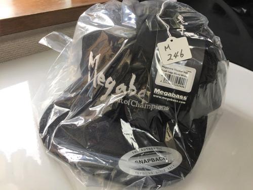 Megabass TRUCKER HAT Brush Logo Black/White NEW