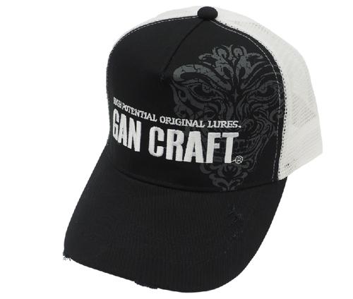 Gan Craft CRACK FACE DAMAGE CAP #02 Black/White NEW