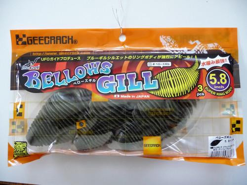 GEECRACK BELLOWS GILL 5.8 #023 Green Pumpkin Blue Flake NEW