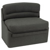 """RecPro Charles 40"""" RV Dinette Booth in Cloth with Storage   Converts to Bed"""