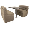 "RecPro 42"" RV Dinette Booth Cloth with Optional Table and Leg"
