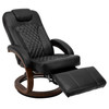 RV Euro Chair Recliner in Black