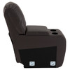 """RecPro Charles 12"""" RV Furniture Comfort Console with Cup Holders and Storage in Ultrafabrics® Brisa®"""