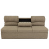"""RecPro Charles 62"""" RV Jackknife Sleeper Sofa with Drop-Down Cupholders in Cloth"""