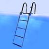 Pontoon 4 Step Heavy Duty 316 SS Dock Ladder w/ Blue LED Step Lights