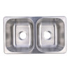 """Double Stainless Steel RV Sink 27"""" x 16"""" x 7"""""""