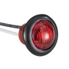 "3/4"" Red/Red LED Clearance Marker Bullet Lights"