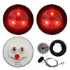 "2"" Clear/Red Round Light Kit"