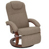 """RecPro Charles 28"""" RV Euro Chair Recliner in Suprima Linen Oatmeal"""