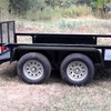 "Steel Diamond Plate Tandem Axle Trailer Fenders 10"" x 72"" x 13"""